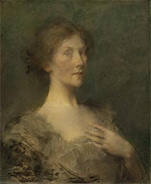 Portrait of a Lady, c.1895 by Thomas Wilmer Dewing | Giclée Canvas Print