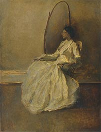 Lady in White I, c.1910 by Thomas Wilmer Dewing | Giclée Canvas Print