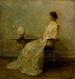 Lady in White II, c.1910 by Thomas Wilmer Dewing | Giclée Canvas Print
