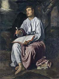 Velazquez | Saint John the Evangelist on the Island of Patmos, c.1618 | Giclée Canvas Print