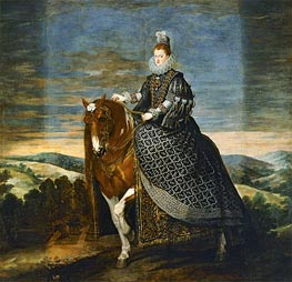 Velazquez | Queen Margarita de Austria on Horseback, c.1635 | Giclée Canvas Print