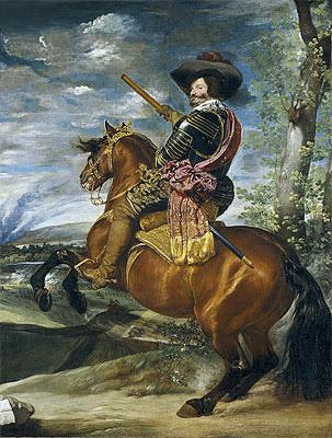 Equestrian Portrait of Don Gaspar de Guzman Count-Duke of Olivares, 1635 | Velazquez | Painting Reproduction