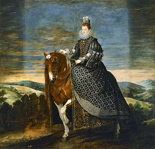 Queen Margarita de Austria on Horseback, c.1635 | Velazquez | Painting Reproduction