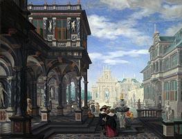 Dirck van Delen | An Architectural Fantasy, 1634 | Giclée Canvas Print