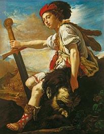 Domenico Fetti | David with the Head of Goliath, c.1620 | Giclée Canvas Print