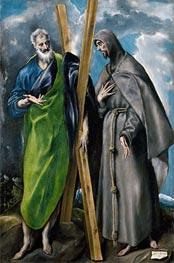 El Greco   Saint Andrew and Saint Francis, c.1595   Giclée Canvas Print
