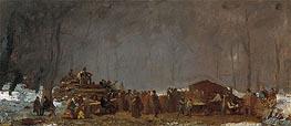 Eastman Johnson | The Maple Sugar Camp - Turning Off, c.1865/73 | Giclée Canvas Print