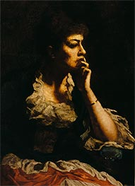 Portrait of Mrs. Eastman Johnson, c.1888 by Eastman Johnson | Giclée Canvas Print