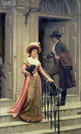Blair Leighton | My Next-Door Neighbour, 1894 | Giclée Canvas Print