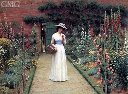 Blair Leighton | Lady in a Garden, undated | Giclée Canvas Print