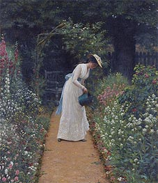Blair Leighton | My Lady's Garden, 1905 | Giclée Canvas Print