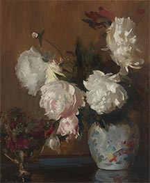 Peonies, c.1925 by Edmund Charles Tarbell | Giclée Canvas Print