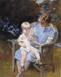 Marjorie and Little Edmund, 1928 by Edmund Charles Tarbell | Giclée Canvas Print