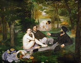 Manet | The Lunch on the Grass, 1863 | Giclée Canvas Print