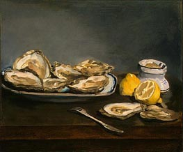 Manet | Oysters | Giclée Canvas Print