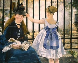 Manet | The Railway | Giclée Canvas Print