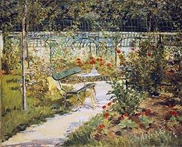 Manet | The Bench, The Garden at Versailles, 1881 | Giclée Canvas Print