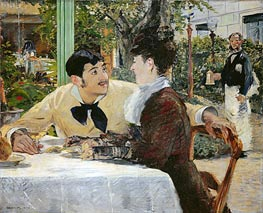 Manet | The Garden of Pere Lathuille | Giclée Canvas Print
