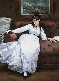 Manet | Repose: Portrait of Berthe Morisot | Giclée Canvas Print