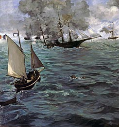 Manet | Battle of the 'Kearsarge' and the 'Alabama' | Giclée Canvas Print
