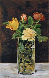 Manet | Roses and Tulips in a Vase, 1883 | Giclée Canvas Print