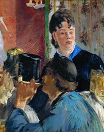 Manet | Beer Drinking (The Waitress), c.1878/79 | Giclée Canvas Print