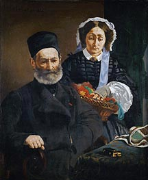 Manet | Portrait of Monsieur and Madame Auguste Manet, 1860 | Giclée Canvas Print