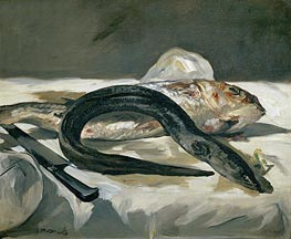 Manet | Eel and Red Mullet, 1864 | Giclée Canvas Print