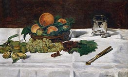Still Life: Fruit on a Table, 1864 by Manet | Giclée Canvas Print