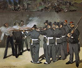 Manet | The Execution of the Emperor Maximilian, 1867 | Giclée Canvas Print