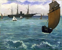 Manet | The 'Kearsarge' at Boulogne, 1864 | Giclée Canvas Print