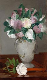 Peonies, c.1864/65 by Manet | Giclée Canvas Print