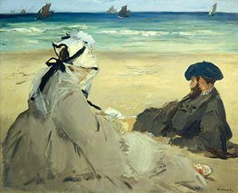 Manet | At the Beach, 1873 | Giclée Canvas Print