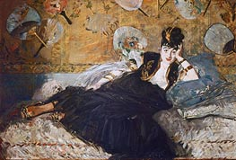 Manet | Woman with Fans (Nina de Callias), 1873 | Giclée Canvas Print
