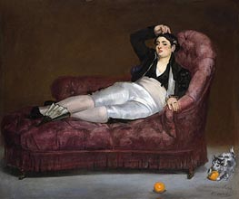 Manet | Young Woman Reclining in Spanish Costume | Giclée Canvas Print