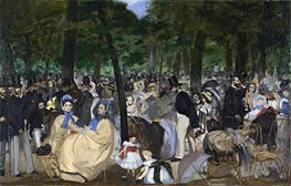 Manet | Music in the Tuileries Gardens | Giclée Canvas Print