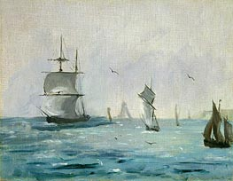 Manet | Fishing Boat Arriving with the Wind Behind | Giclée Canvas Print