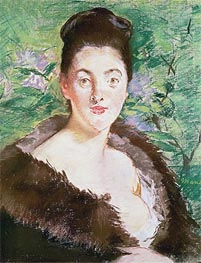 Manet | Woman in a Fur Coat | Giclée Canvas Print