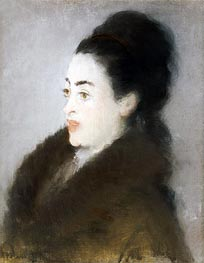 Manet | Woman in a Fur Coat in Profile | Giclée Canvas Print