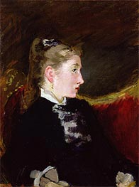 Manet | Profile of a Young Girl - Mlle. Ellen Andree, c.1860 | Giclée Canvas Print