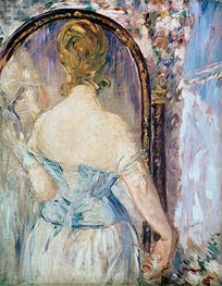 Manet | Woman Before a Mirror, c.1876/77 | Giclée Canvas Print