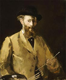 Manet | Self Portrait with a Palette, c.1878/79 | Giclée Canvas Print