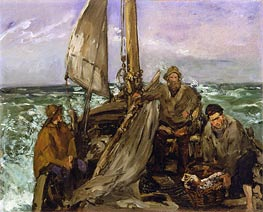 Manet | The Toilers of the Sea, 1873 | Giclée Canvas Print