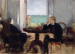 Manet | Interior at Arcachon, 1871 | Giclée Canvas Print