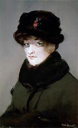Manet | Mery Laurent Wearing a Fur-Collared Cardigan | Giclée Canvas Print