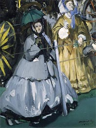 Manet | Women at the Races, 1865 | Giclée Canvas Print
