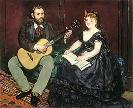 Manet | Music Lesson, 1870 | Giclée Canvas Print