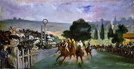 Manet | The Races at Longchamp, 1866 | Giclée Canvas Print