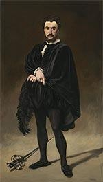 The Tragic Actor (Rouvière as Hamlet), 1866 by Manet | Giclée Canvas Print