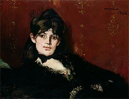 Portrait of Berthe Morisot Reclining, 1873 by Manet | Giclée Canvas Print
